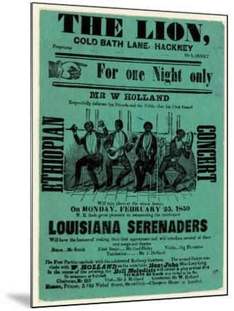 Louisiana Serenaders at the Lion, Hackney--Mounted Giclee Print