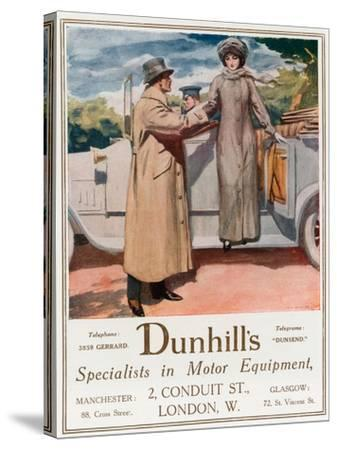 Dunhill's, Specialists in Motor Equipment, 2 Conduit Street--Stretched Canvas Print