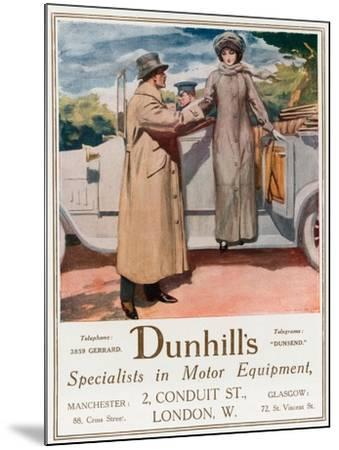 Dunhill's, Specialists in Motor Equipment, 2 Conduit Street--Mounted Giclee Print