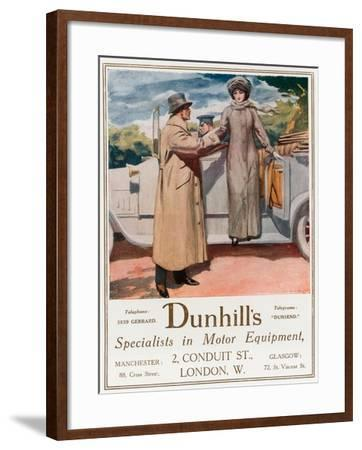 Dunhill's, Specialists in Motor Equipment, 2 Conduit Street--Framed Giclee Print