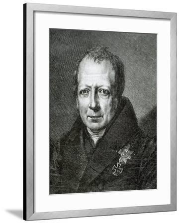 Wilhelm Von Humboldt (1767 1835)--Framed Giclee Print