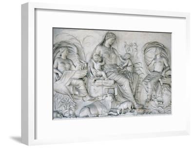 Ara Pacis Augustae. Tellus Panel--Framed Giclee Print