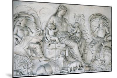 Ara Pacis Augustae. Tellus Panel--Mounted Giclee Print