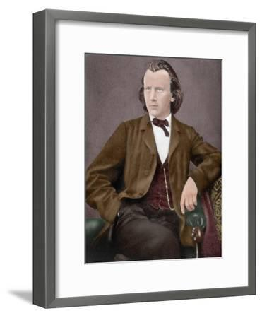 Johannes Brahms (1833-1897)--Framed Giclee Print