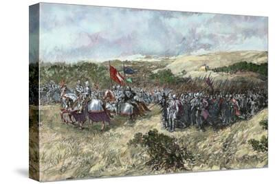 The Crusades. 12th Century. Crusaders Army--Stretched Canvas Print
