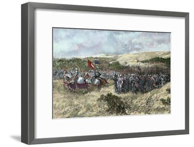 The Crusades. 12th Century. Crusaders Army--Framed Giclee Print