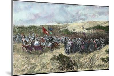 The Crusades. 12th Century. Crusaders Army--Mounted Giclee Print