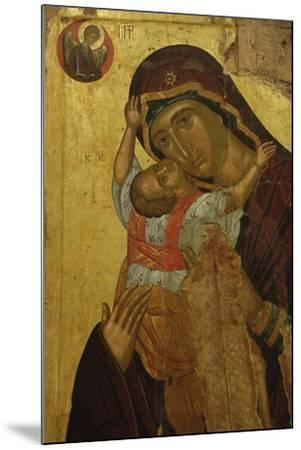 Byzantine Art. Greece. Icon with the Virgin of Tenderness (Kaardiotissa)--Mounted Giclee Print