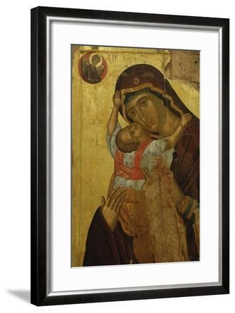 Byzantine Art. Greece. Icon with the Virgin of Tenderness (Kaardiotissa)--Framed Giclee Print