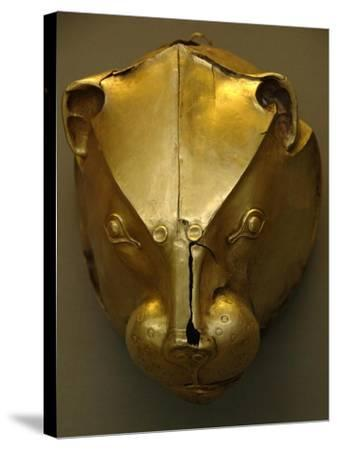 Mycenaean Art. Greece. Rhyton as Lion's Head Embossed in Gold Foil--Stretched Canvas Print