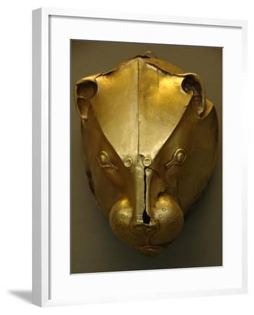 Mycenaean Art. Greece. Rhyton as Lion's Head Embossed in Gold Foil--Framed Giclee Print