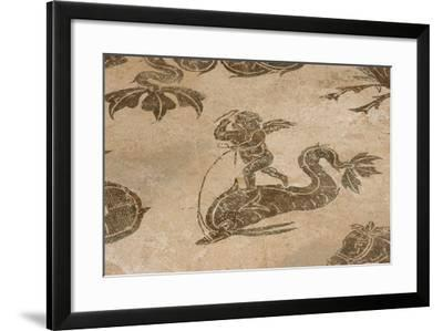 Roman Mosaic. Neptune Riding a Chariot. Ostia Antica. Italy--Framed Giclee Print