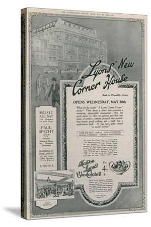 Lyons' New Corner House, Piccadilly Circus, London--Stretched Canvas Print
