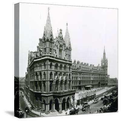 St Pancras Railway Station; Photograph from April 1899--Stretched Canvas Print