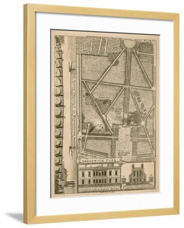 Plan of Greenwich Park, London--Framed Giclee Print