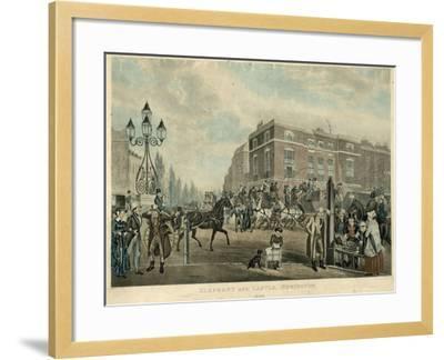 Elephant and Castle, Newington, London, 1826-Samuel John Egbert Jones-Framed Giclee Print