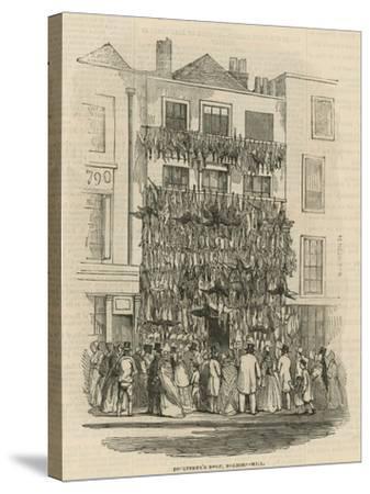 Poulterer's Shop on Holborn Hill--Stretched Canvas Print