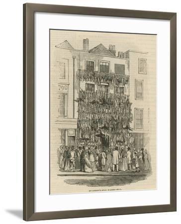 Poulterer's Shop on Holborn Hill--Framed Giclee Print