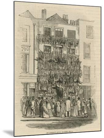 Poulterer's Shop on Holborn Hill--Mounted Giclee Print