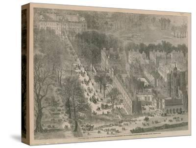 Bird's Eye View of Buckingham and St James's Palaces--Stretched Canvas Print