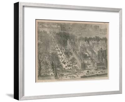 Bird's Eye View of Buckingham and St James's Palaces--Framed Giclee Print