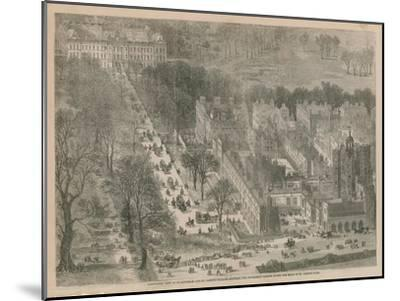 Bird's Eye View of Buckingham and St James's Palaces--Mounted Giclee Print