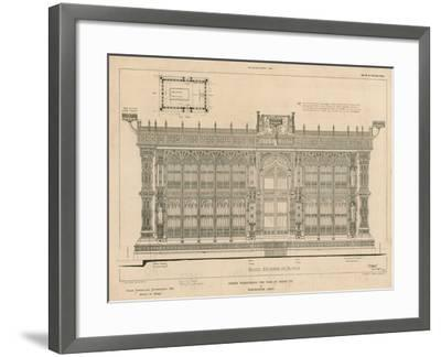 South Elevation of the Screen Surrounding the Tomb of King Henry Vii--Framed Giclee Print