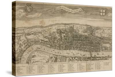 A View of London About the Year 1560--Stretched Canvas Print