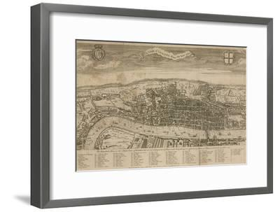 A View of London About the Year 1560--Framed Premium Giclee Print