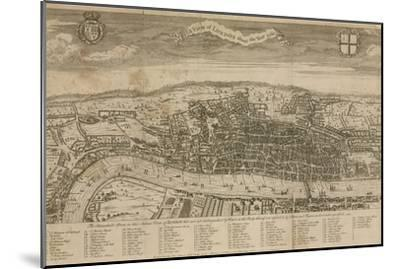 A View of London About the Year 1560--Mounted Premium Giclee Print