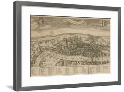 A View of London About the Year 1560--Framed Giclee Print