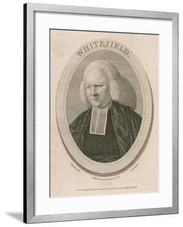 George Whitefield, Ma, One of the Founders of Methodism--Framed Giclee Print