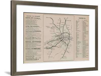 London Underground Map--Framed Giclee Print