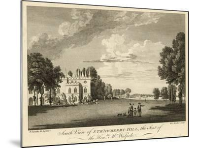 South View of Strawberry Hill, Twickenham, London, the Seat of the Honourable Horace Walpole-Paul Sandby-Mounted Giclee Print