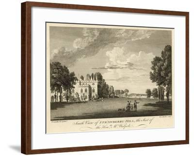 South View of Strawberry Hill, Twickenham, London, the Seat of the Honourable Horace Walpole-Paul Sandby-Framed Giclee Print