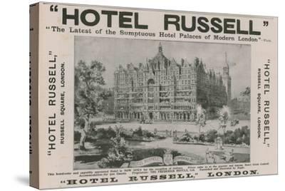 Hotel Russell, Russell Square, London-Harold Oakley-Stretched Canvas Print