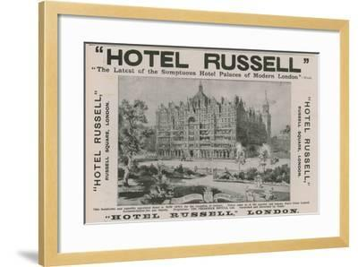 Hotel Russell, Russell Square, London-Harold Oakley-Framed Giclee Print