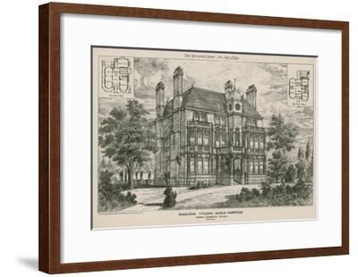 Beauchene, Fitzjohn Avenue, Hampstead--Framed Giclee Print