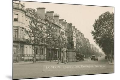 Queen's Gate, Kensington, London--Mounted Photographic Print