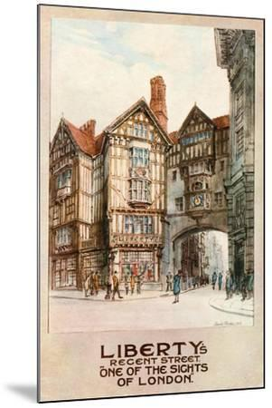Liberty's, Regent Street--Mounted Giclee Print