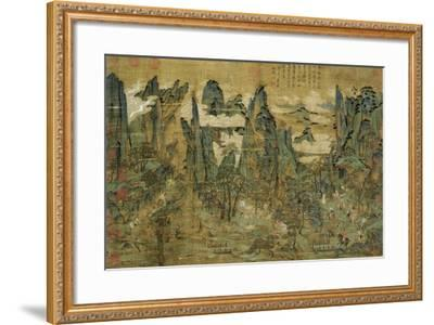 "An Anonymous Painting ""The Flight of the Emperor Ming Huang to Shu""--Framed Giclee Print"