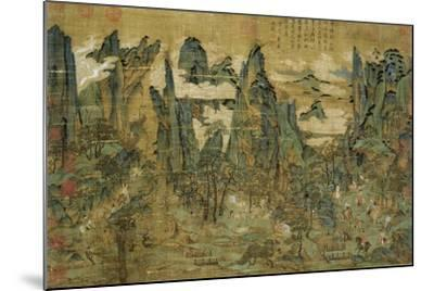 "An Anonymous Painting ""The Flight of the Emperor Ming Huang to Shu""--Mounted Giclee Print"