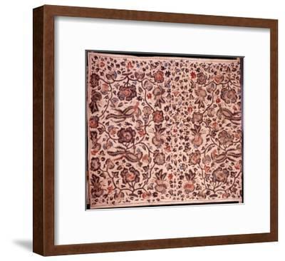 "A Batik Sarong with ""Alas Alasan"" Design Incorporating Flowers and Birds--Framed Giclee Print"