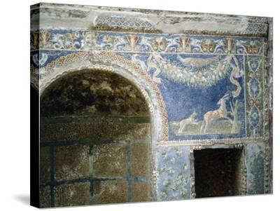 Detail of a Mosaic from the Summer Dining Room at the House of the Neptune and Amphitrite Mosaic--Stretched Canvas Print