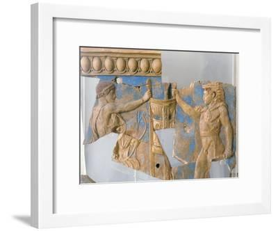 Terracotta Plaque from the Temple of Apollo on the Palatine--Framed Giclee Print