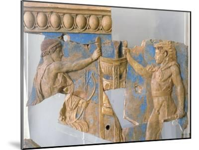 Terracotta Plaque from the Temple of Apollo on the Palatine--Mounted Giclee Print