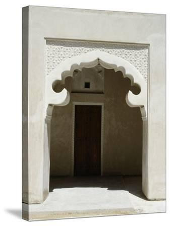 Arched Entrance Way of a Madrasah or Koranic School, Dubai--Stretched Canvas Print