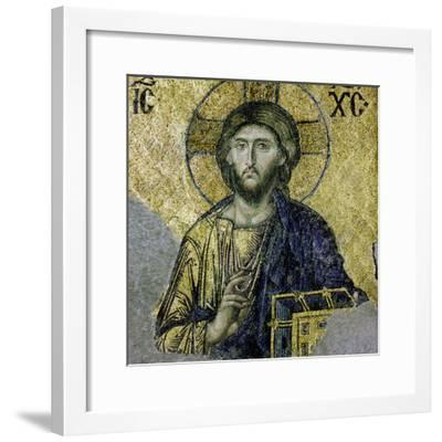 This Mosaic of the Enthroned Christ Is in the South Gallery of the Hagia Sophia, Istanbul--Framed Giclee Print