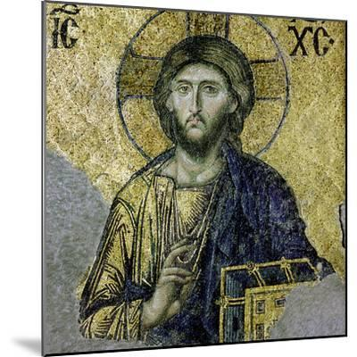 This Mosaic of the Enthroned Christ Is in the South Gallery of the Hagia Sophia, Istanbul--Mounted Giclee Print