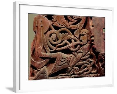 Detail of a Carving from a Stave Church Portal Illustrating the Story of Sigurd--Framed Giclee Print